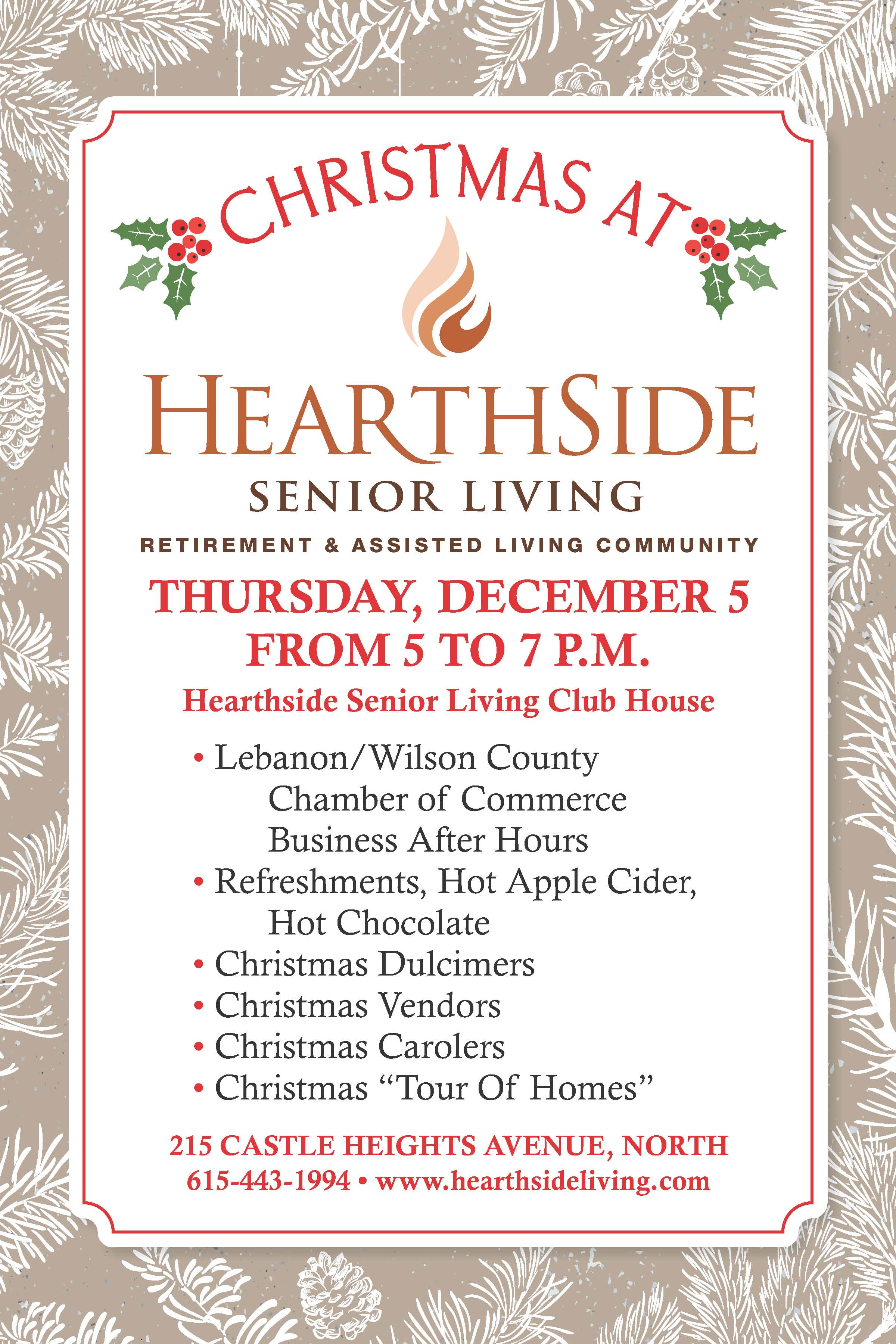 2019 hearthside christmas invitation
