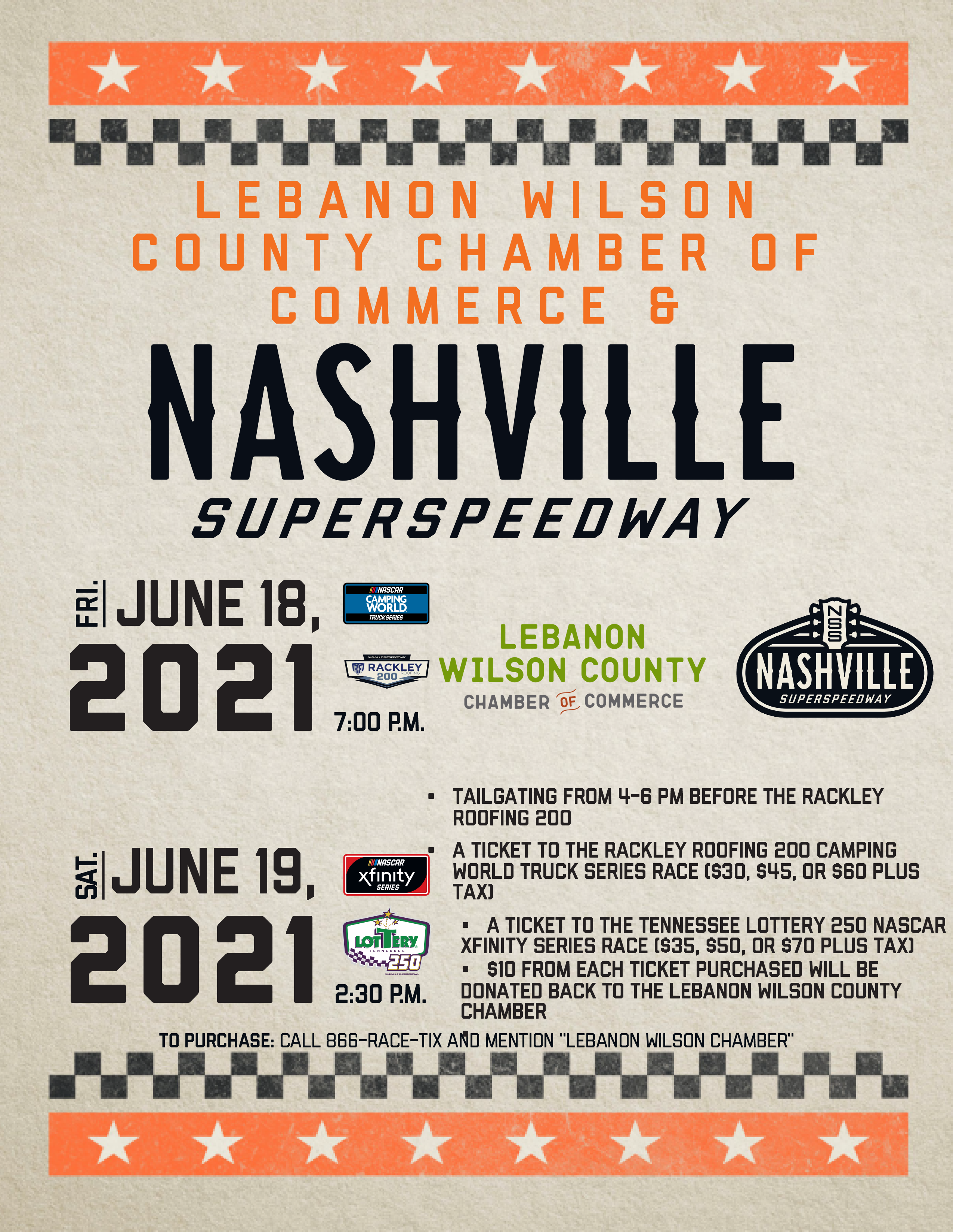 Chamber Tailgate at the Nashville Superspeedway