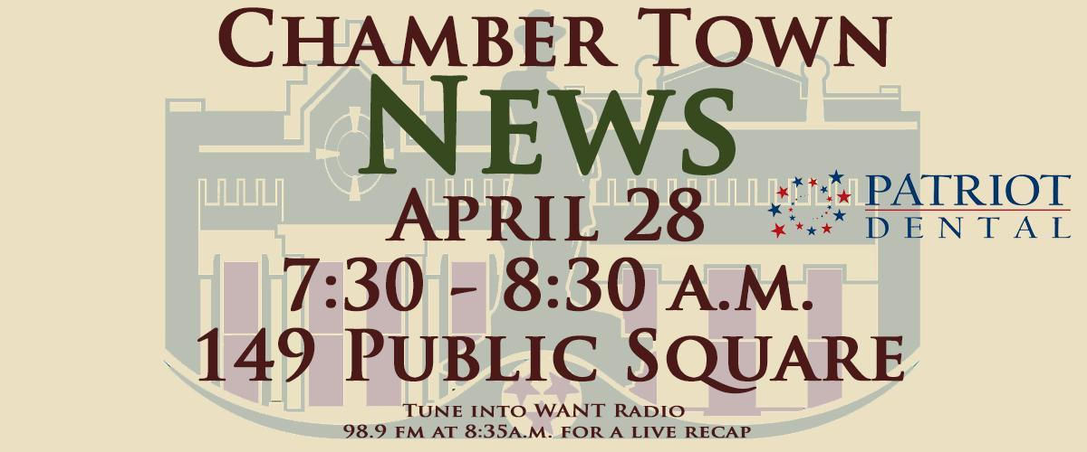 Chamber Town News Banner April