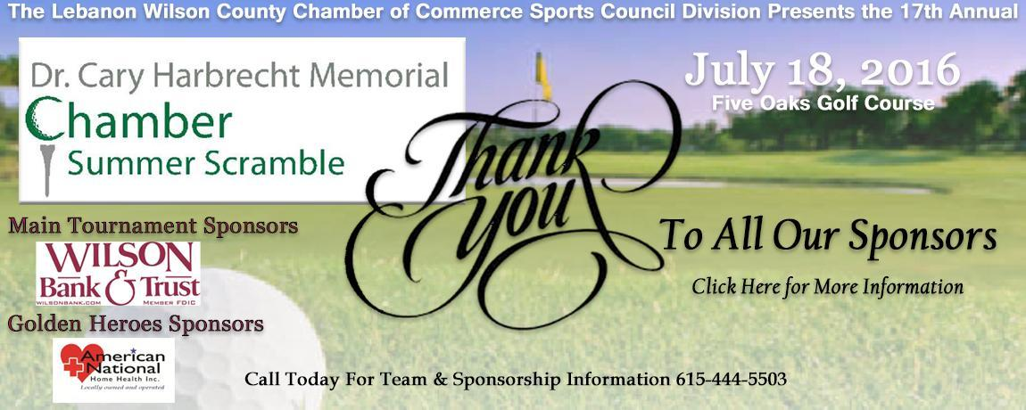 Golf Banner with Sponsors