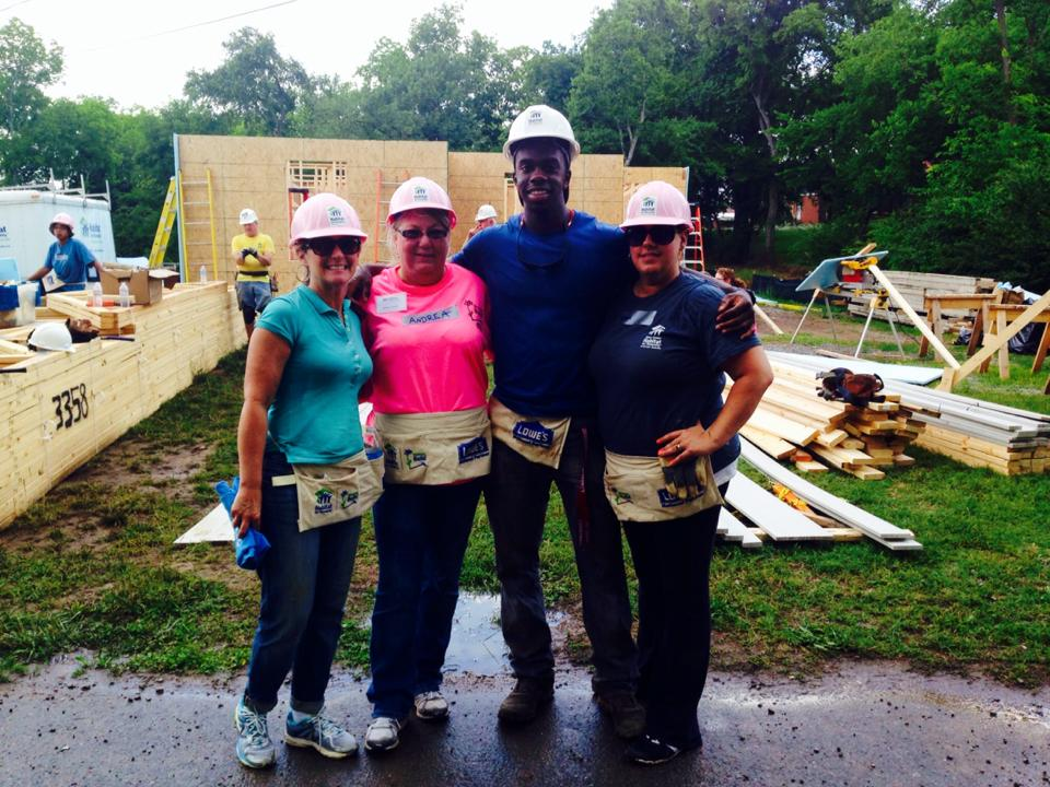 Trell and Team at Habitat - Lebanon Wilson Chamber