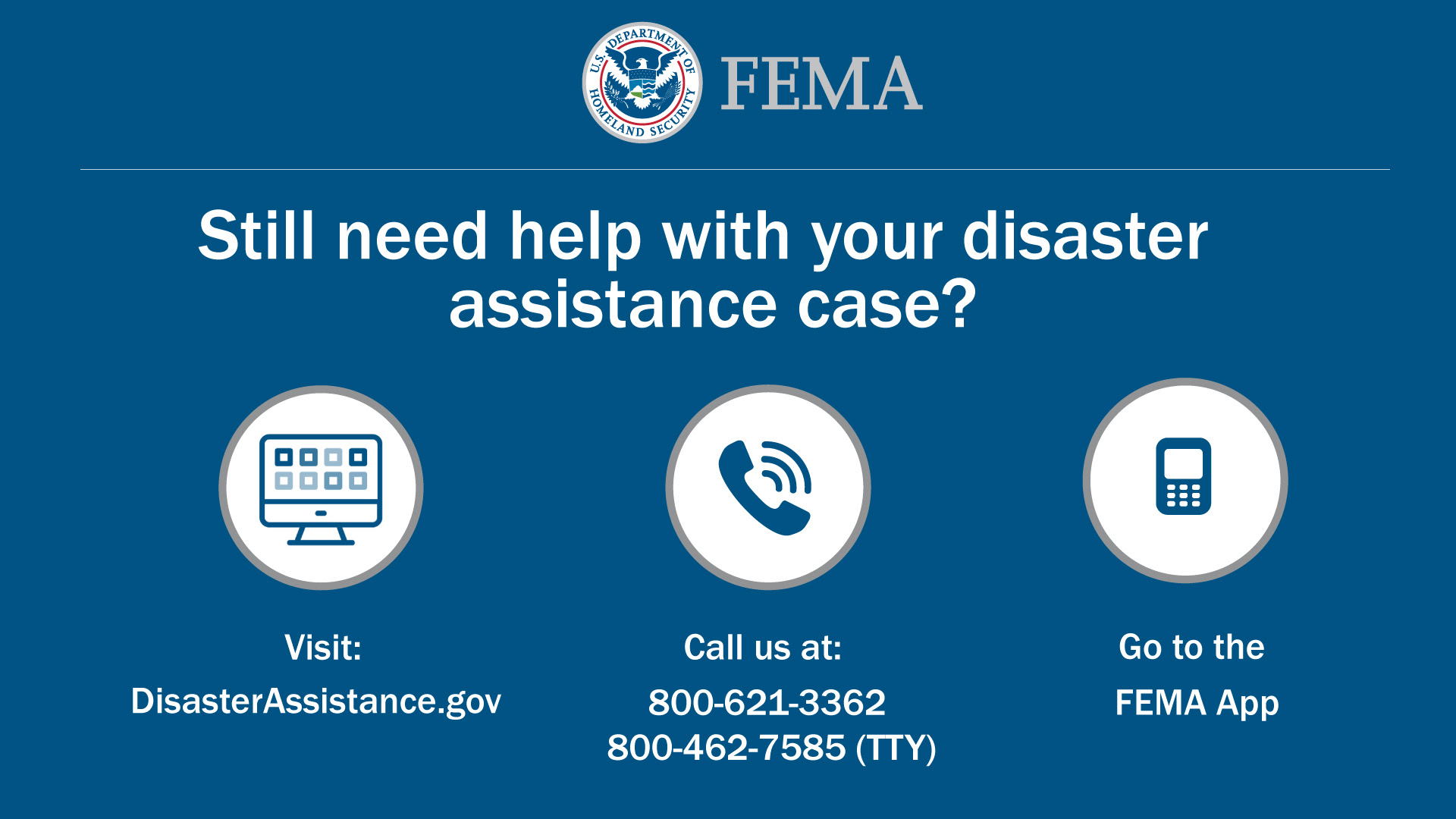 May 4th Deadline to Apply with FEMA