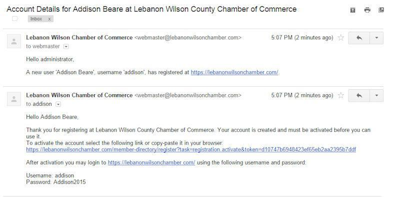 Registration Lebanon Wilson County Chamber Of Commerce