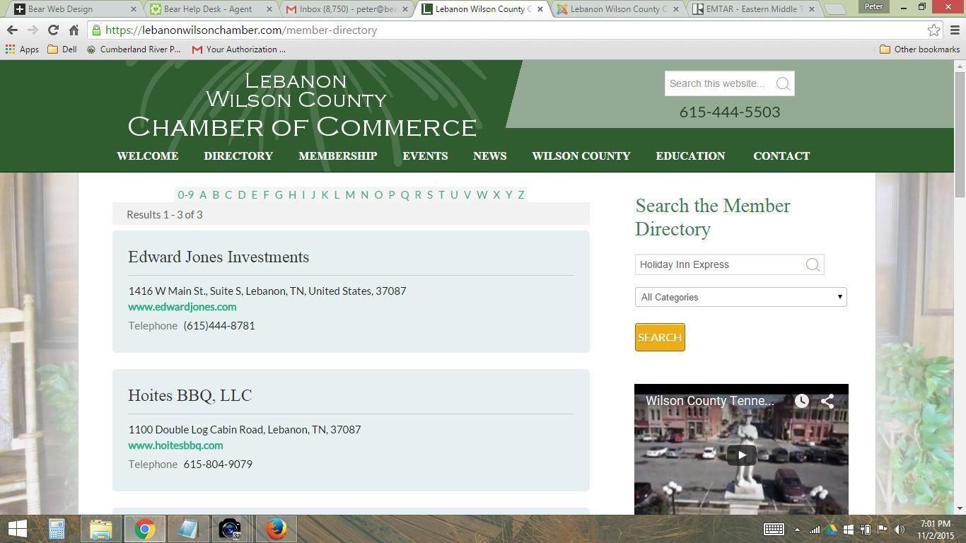 Search The Member Directory - Lebanon Wilson Chamber