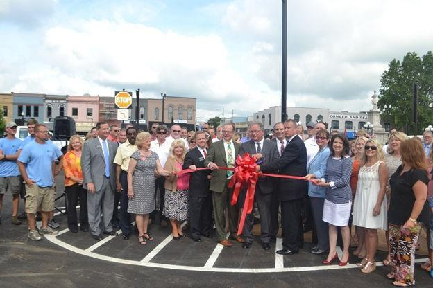 The Lebanon Historic Square was celebrated with a ribbon cutting ceremony