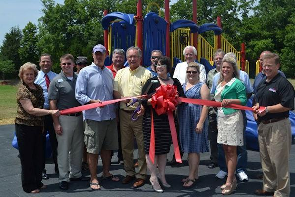 Ribbon Cutting for new Lily Pad Jungle Gym