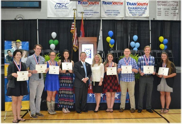 The TN Scholars Ceremony was held on May 7th at Cumberland University