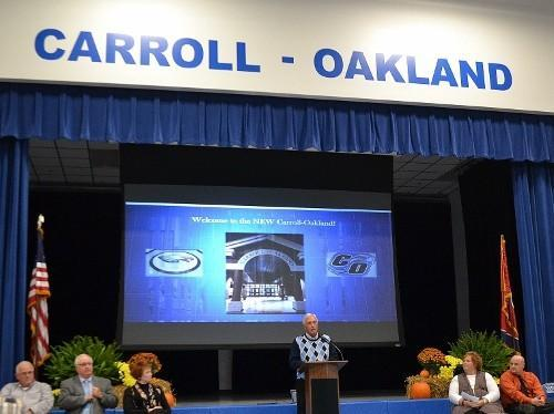 Carroll-Oakland School Dedication