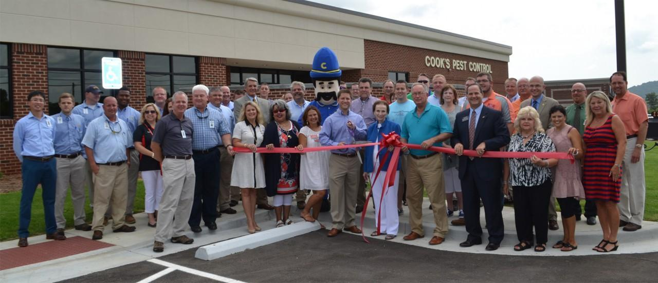 Cook's Pest Control Ribbon Cutting