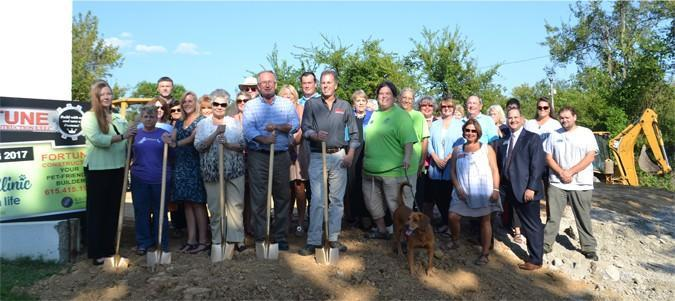 New Leash On Life's Joy Clinic Groundbreaking Ceremony