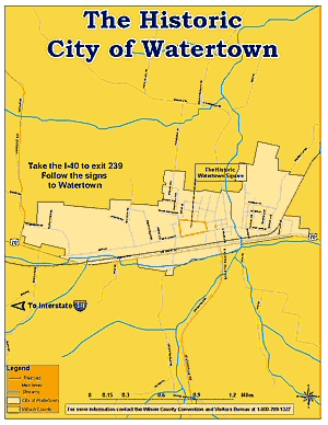Map of Watertown
